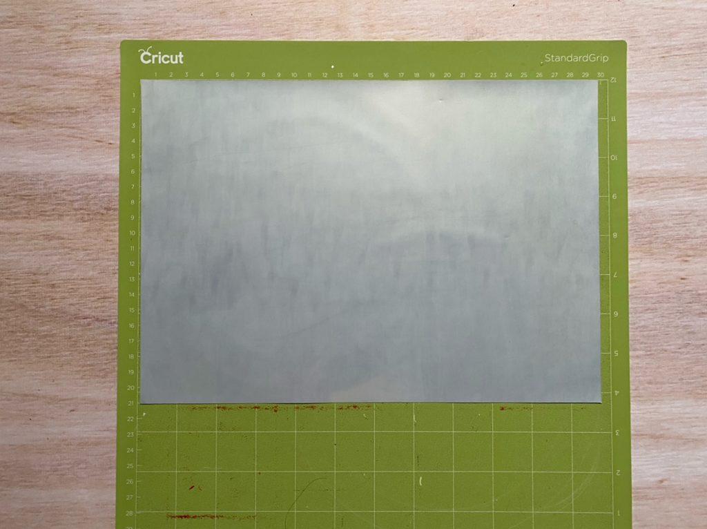 Flex sur tapis vert Cricut